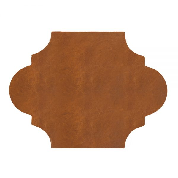 A red terra cotta felipe tile by Jeffrey Court.