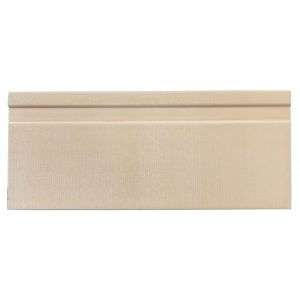 A beige / cream ceramic architectural mouldings base tile by Jeffrey Court.