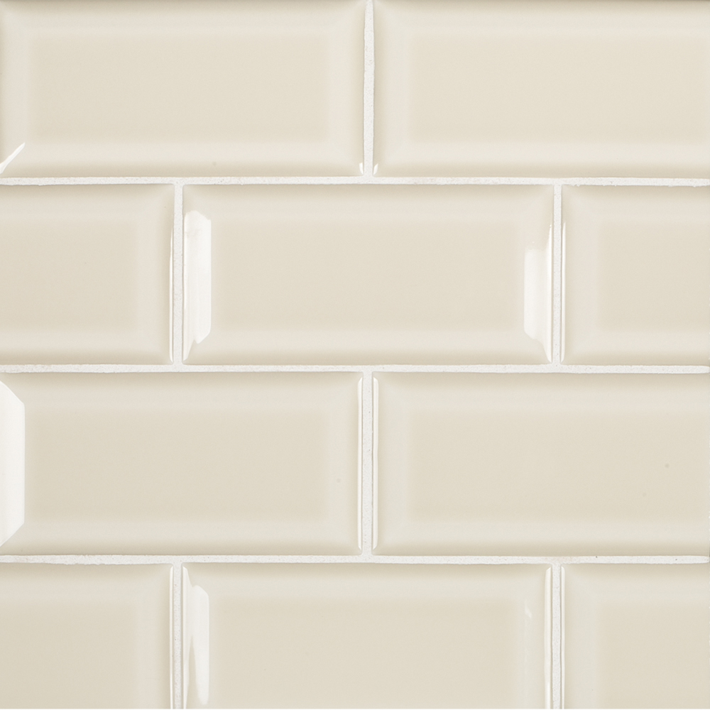 3 Quot X 6 Quot Ceramic Beveled Field Tile Beige Cream Jeffrey