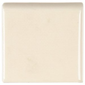 A beige / cream ceramic trim double bullnose tile by Jeffrey Court.