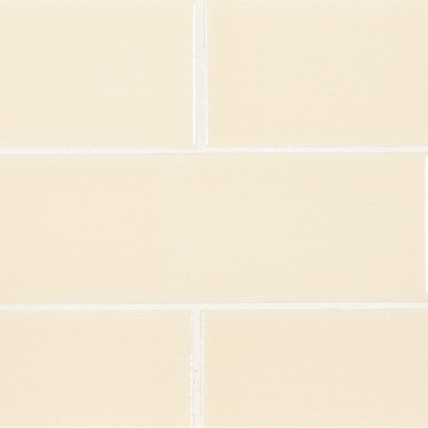 A beige / cream ceramic field tile by Jeffrey Court.