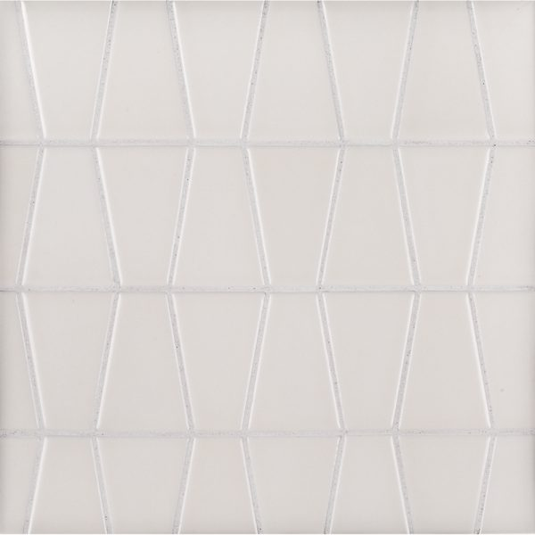 A beige / cream ceramic mosaic icon tile by Jeffrey Court.