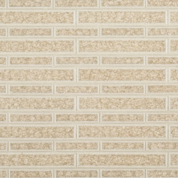 A beige / cream ceramic mosaic passion glass tile by Jeffrey Court.