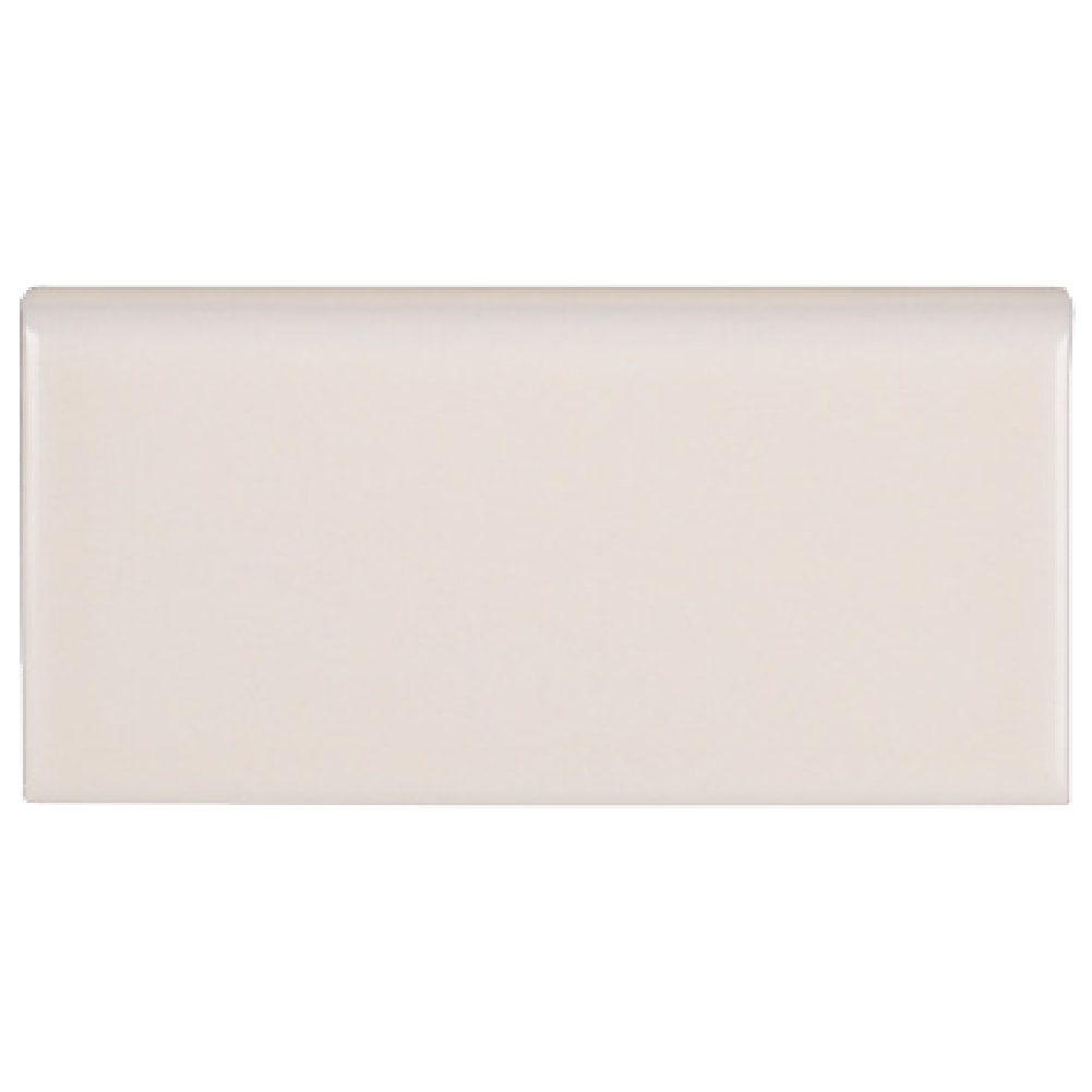 Beige Cream Ceramic Single Bullnose Tile Jeffrey Court - Bullnose tile sizes