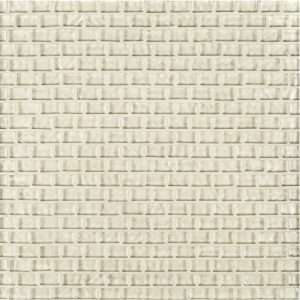 A beige / cream glass mosaic belle mare tile by Jeffrey Court.