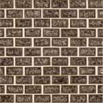 A brown ceramic mosaic mood glass tile by Jeffrey Court.