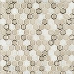 "A brown glass mosaic 5/8"" hex tile by Jeffrey Court."
