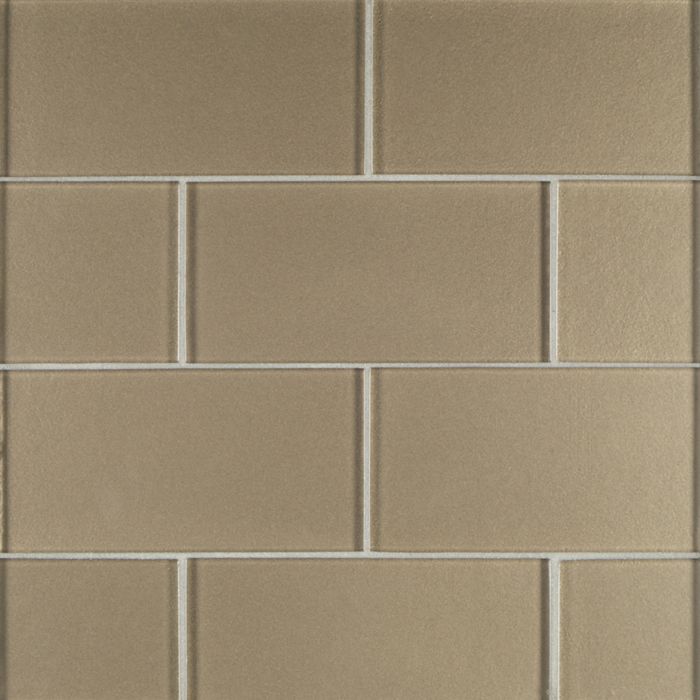 3 x 6 glass field tile brown jeffrey court tile for Back painted glass tile