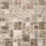 A brown natural stone mosaic winward plains tile by Jeffrey Court.