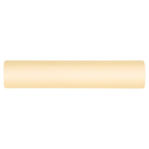 A gold / yellow ceramic architectural mouldings beam moulding tile by Jeffrey Court.