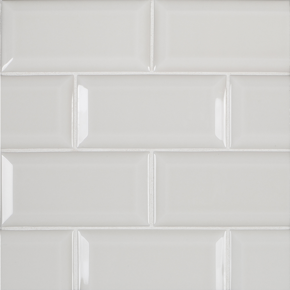 A Grey Ceramic Beveled Field Tile By Jeffrey Court