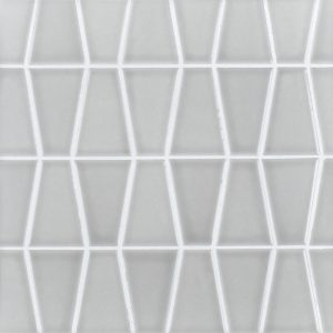 A grey ceramic mosaic icon tile by Jeffrey Court.