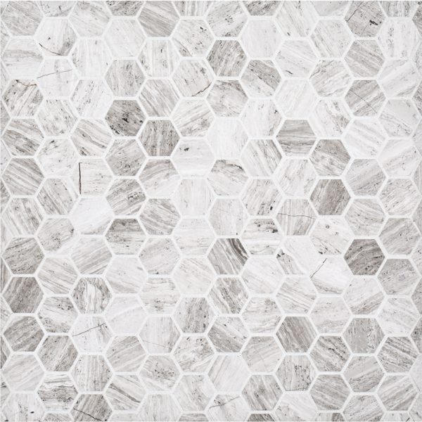 11 25 Quot X 11 625 Quot Natural Stone 1 Quot Hexagon Grey Jeffrey