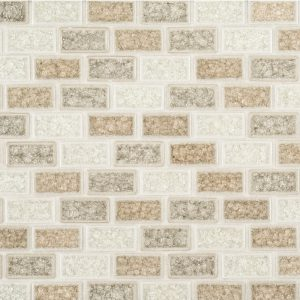 A multi-specialty ceramic mosaic mood glass tile by Jeffrey Court.