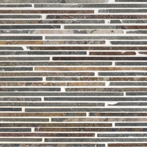 A multi-specialty natural stone mosaic canyon slate tile by Jeffrey Court.