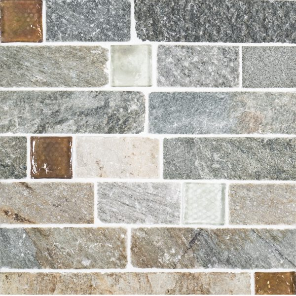 A Multi Specialty Natural Stone Mosaic Fire Ice Brick Tile By Jeffrey Court