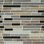 A multi-specialty natural stone mosaic matterhorn tile by Jeffrey Court.