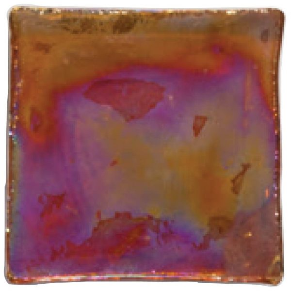 A red natural stone decorative element fire & ice loose glass chips tile by Jeffrey Court.