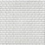 A white glass mosaic belle mare tile by Jeffrey Court.