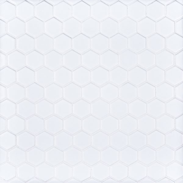11 Quot X 11 5 Quot Ceramic 1 Quot Hexagon White Jeffrey Court Tile