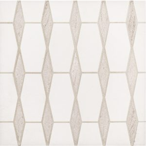 A beige / cream natural stone mosaic harmony tile by Jeffrey Court.