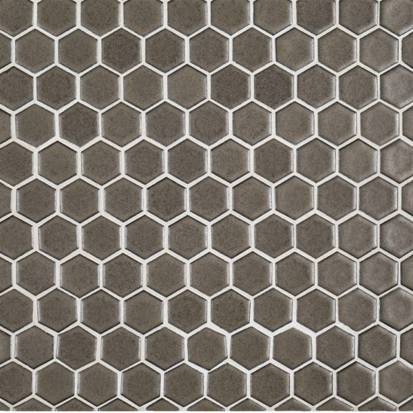 A Brown Ceramic Mosaic 1 Hexagon Tile By Jeffrey Court