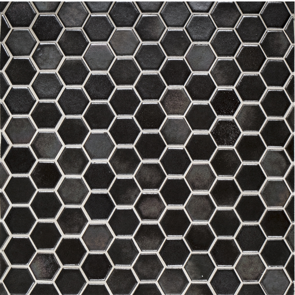 11 25 Quot X 11 25 Quot Glass 1 Quot Hexagon Brown Jeffrey Court Tile