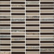 A multi-specialty glass mosaic perfecta blend tile by Jeffrey Court.