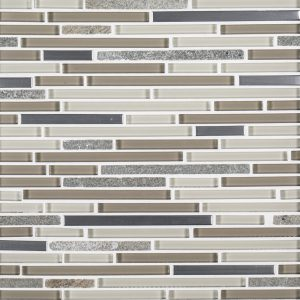 A multi-specialty glass mosaic trifecta blend tile by Jeffrey Court.