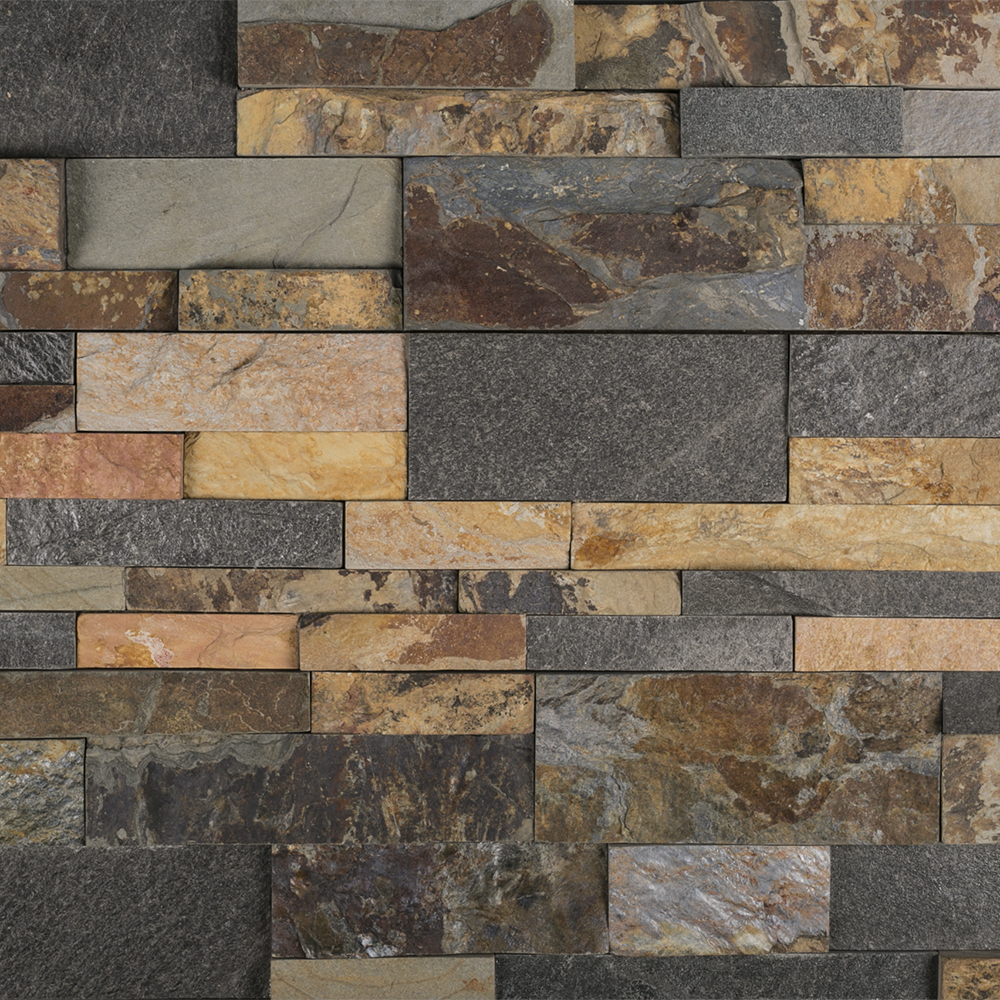 Multi Specialty Natural Stone Ledger Panel Tile Jeffrey