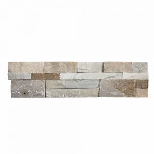 A multi-specialty natural stone field out-corner panel tile by Jeffrey Court.