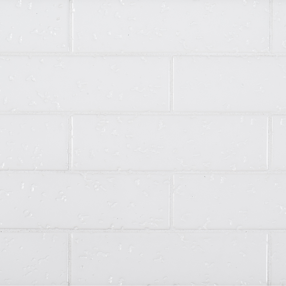 A White Ceramic District Brick Tile By Jeffrey Court