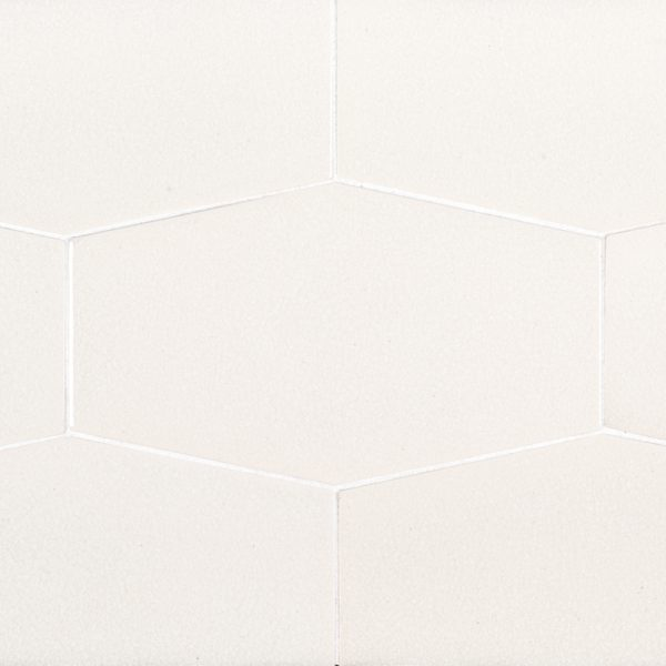 5 1875 Quot X 9 125 Quot Ceramic Hex Field Tile White Jeffrey