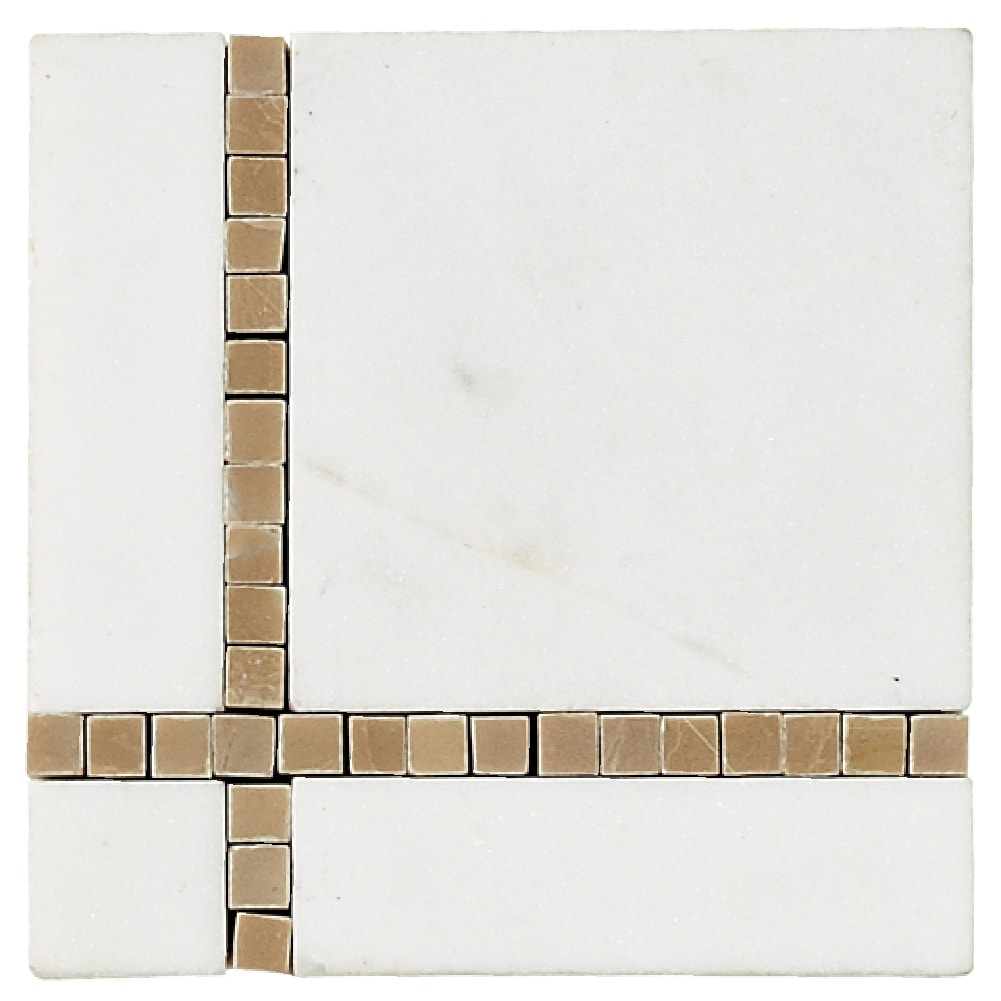 White Natural Stone Broadway Corner Tile