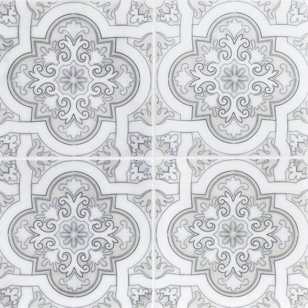 6 x 6 natural stone spanish cathedral white jeffrey for Spanish decorative tile