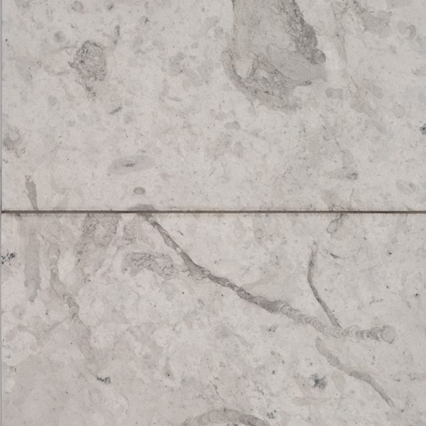A grey natural-stone field tile tile by Jeffrey Court.
