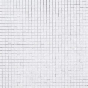 """A white natural-stone mosaic 3/8"""" composition tile by Jeffrey Court."""