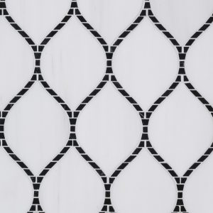 Baton Rouge Mosaic – Nero Marquina – 14.75 in. x 8.125 in. – 10 mm – (18164)
